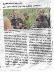 sortie mycologique en forêt de Grimbosq